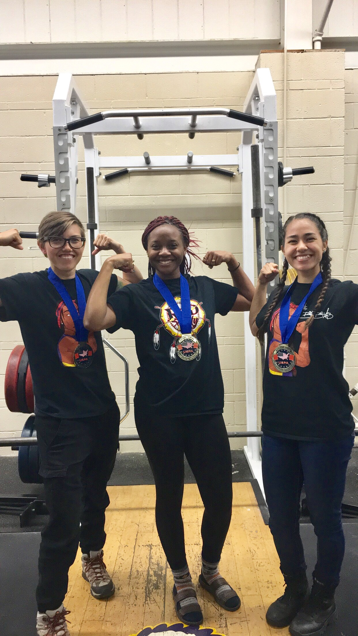 Three Haskell Women Earn Gold at Collegiate Powerlifting Meet