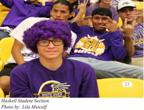 Haskell Volleyball Student Section